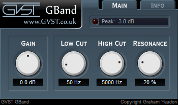 GBand user interface