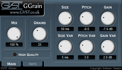 GGrain user interface