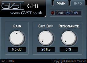GHi user interface