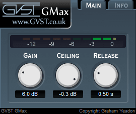 GMax user interface