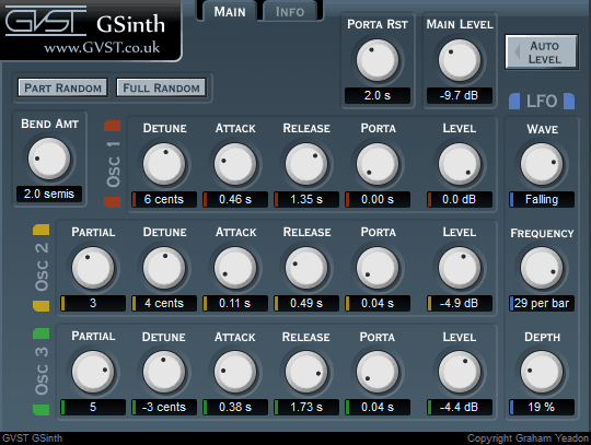GSinth interface