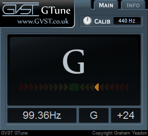 GTune user interface